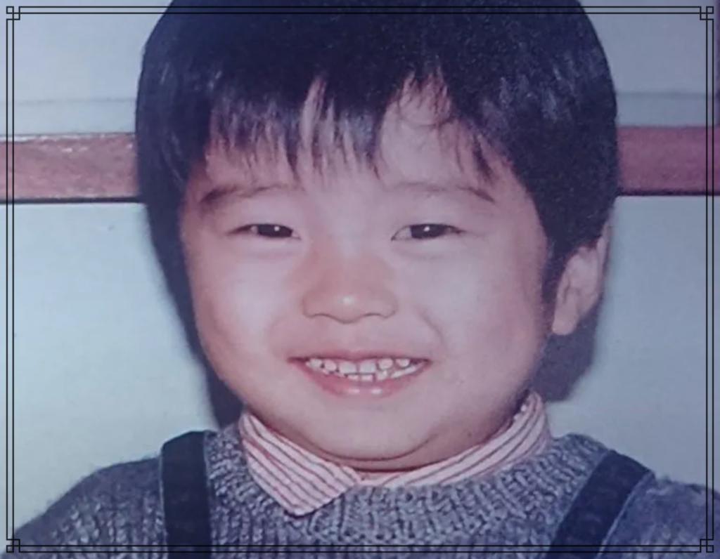 田中圭さんの幼少期の画像