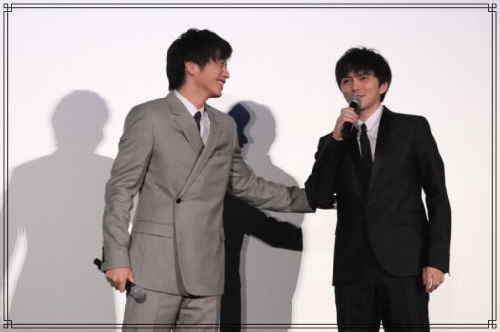 田中圭さんと林遣都さんの画像
