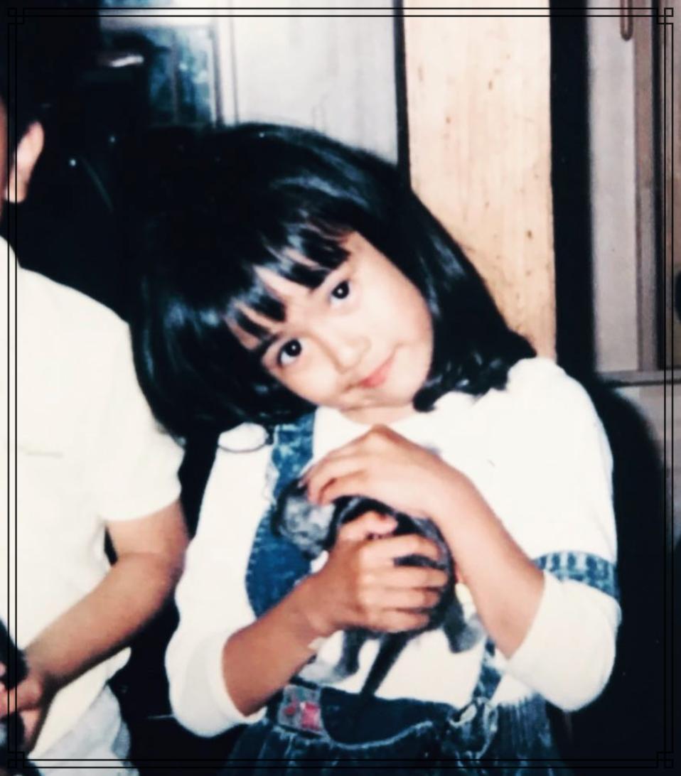 比嘉愛未さんの幼少期の画像