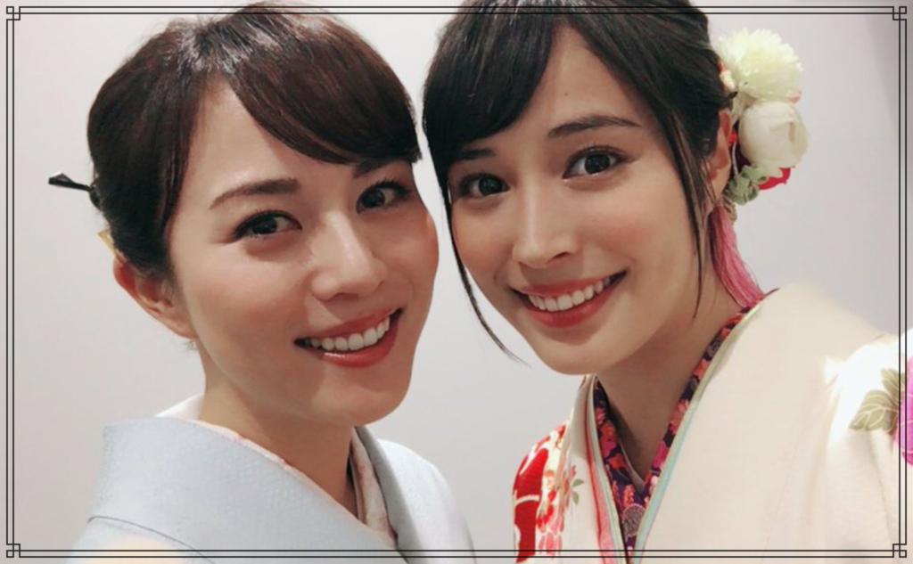 比嘉愛未さんと広瀬アリスさんの画像