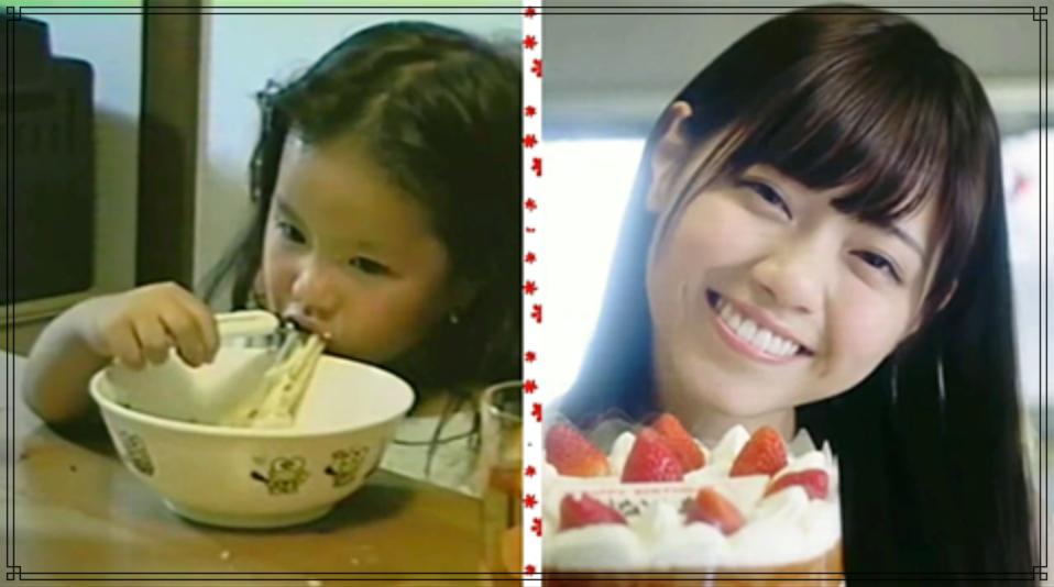 西野七瀬さんの幼少期の画像