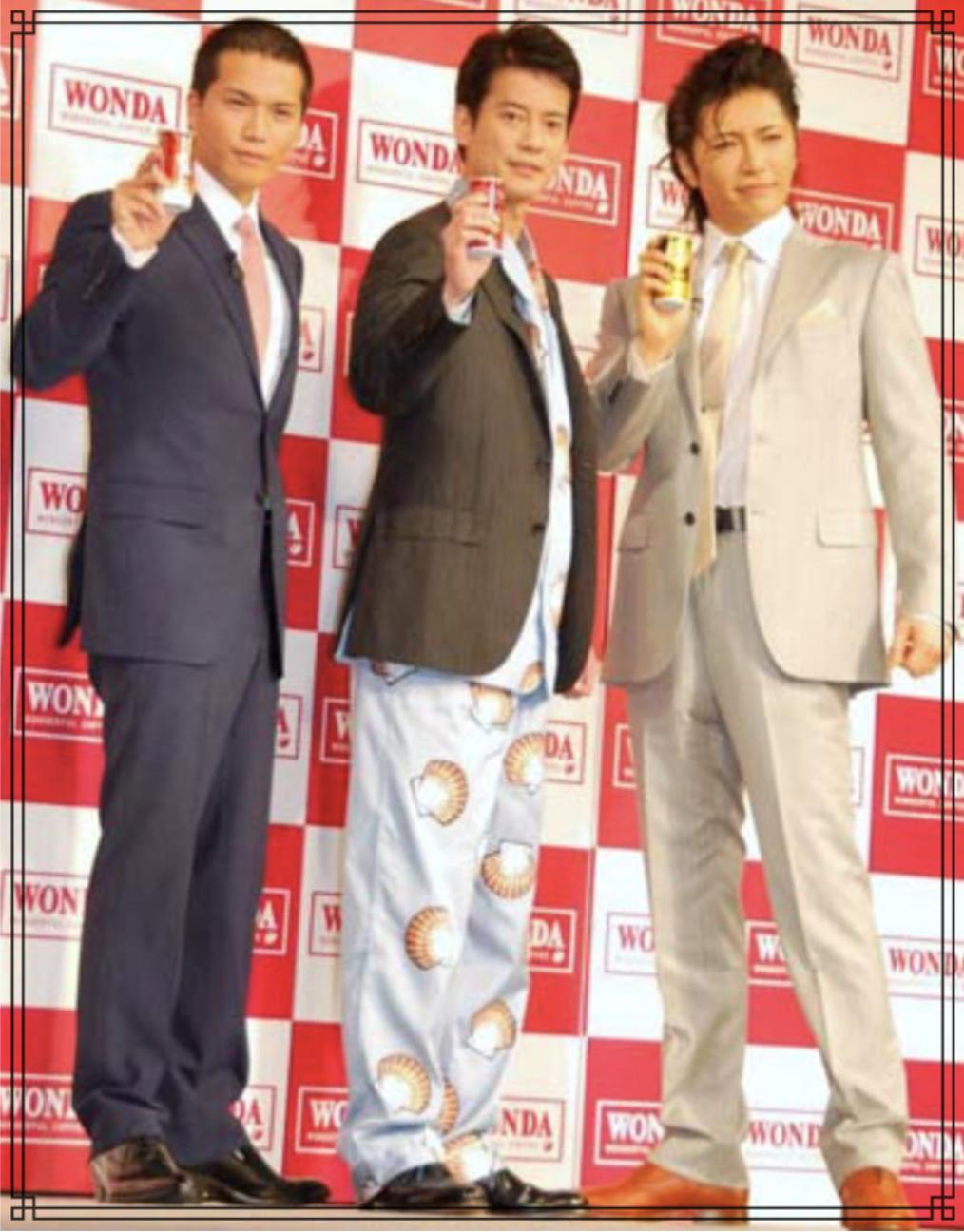 唐沢寿明さんと市原隼人さんとGACKTさんの画像
