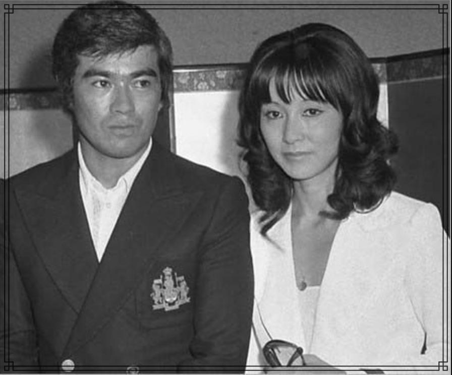 千葉真一さんと野際陽子さんの画像