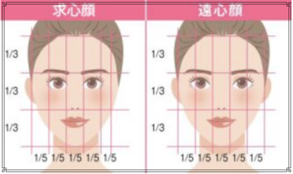 求心顔のイメージ図