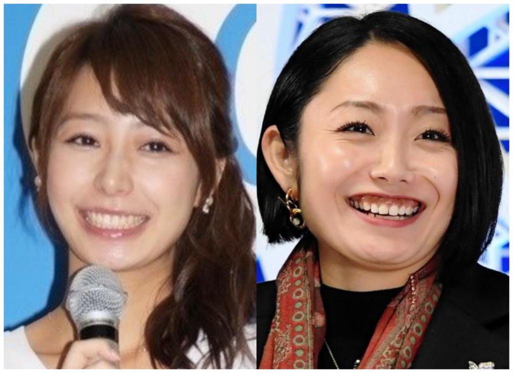 宇垣美里さんと安藤美姫さんの画像