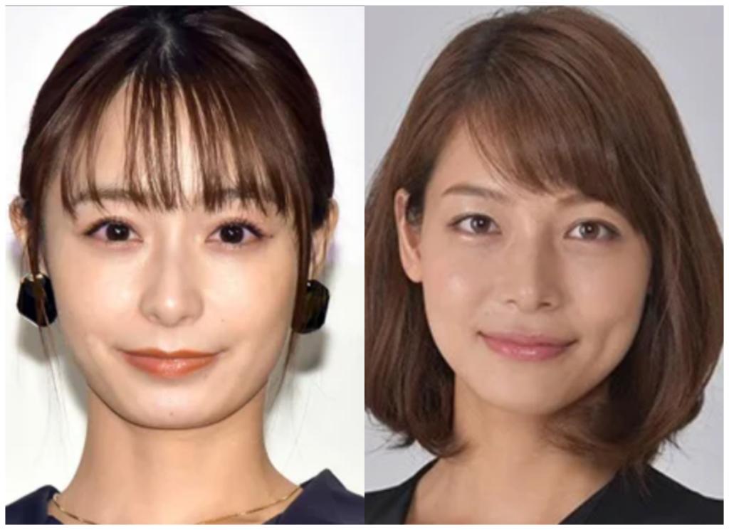 宇垣美里さんと相武紗季さんの画像