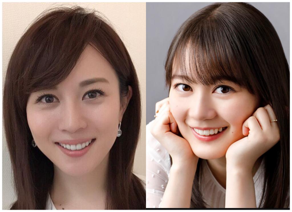 比嘉愛未さんと生田絵梨花さんの画像
