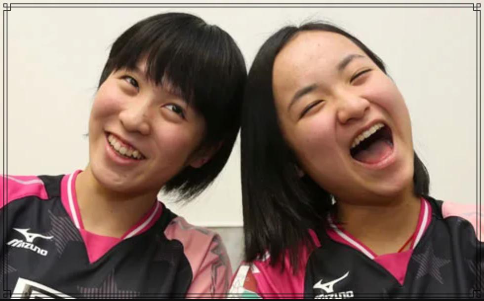 伊藤美誠さんと平野美宇さんの画像
