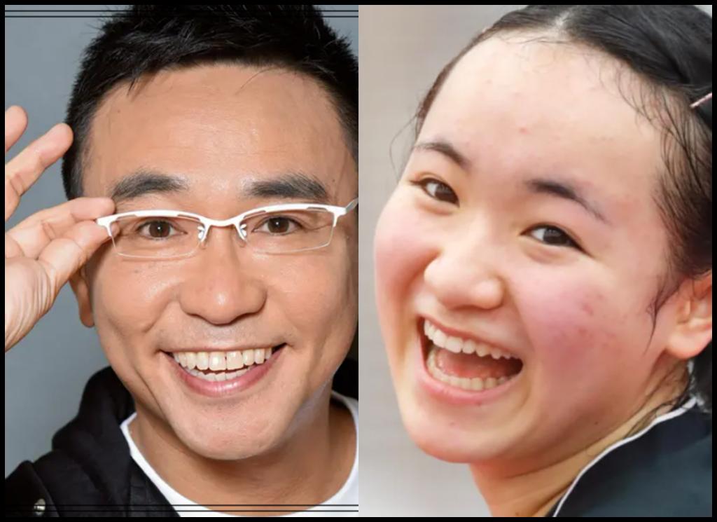 伊藤美誠選手と八嶋智人さんの画像