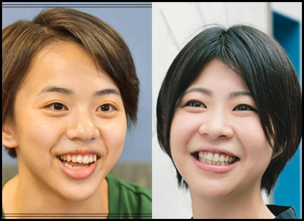 村上茉愛選手と加納愛子さんの画像