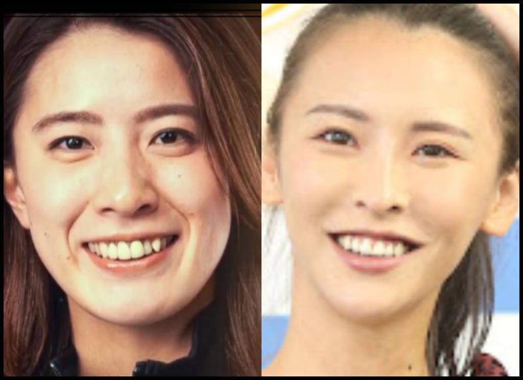 大橋悠依選手と奈月セナさんの画像