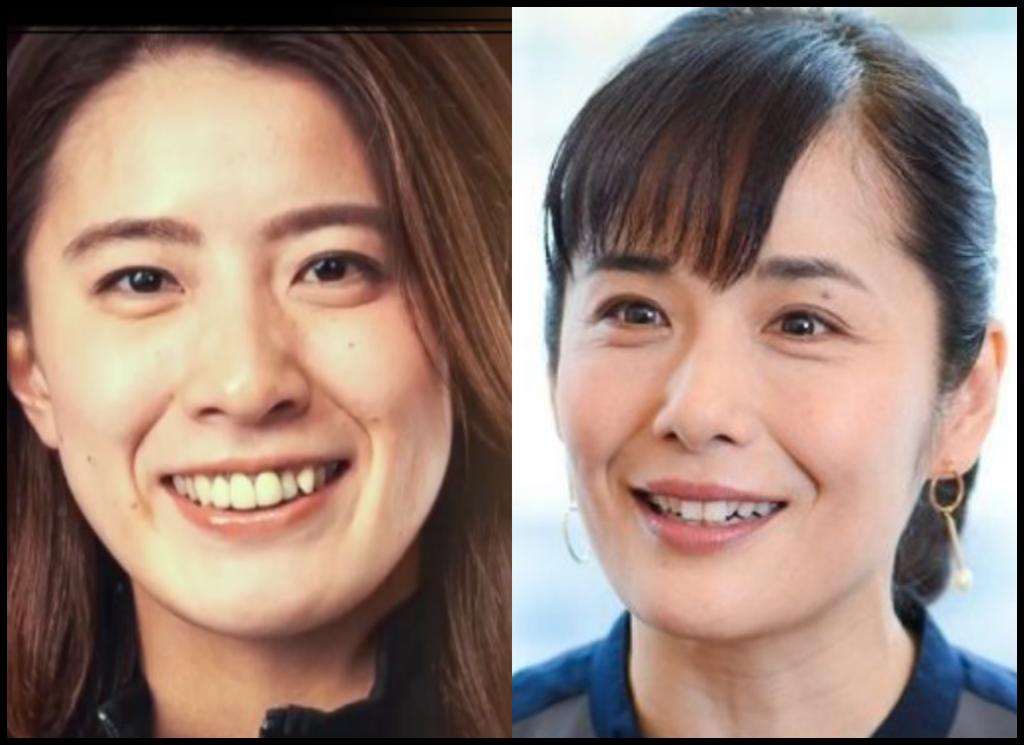 大橋悠依選手と富田靖子さんの画像