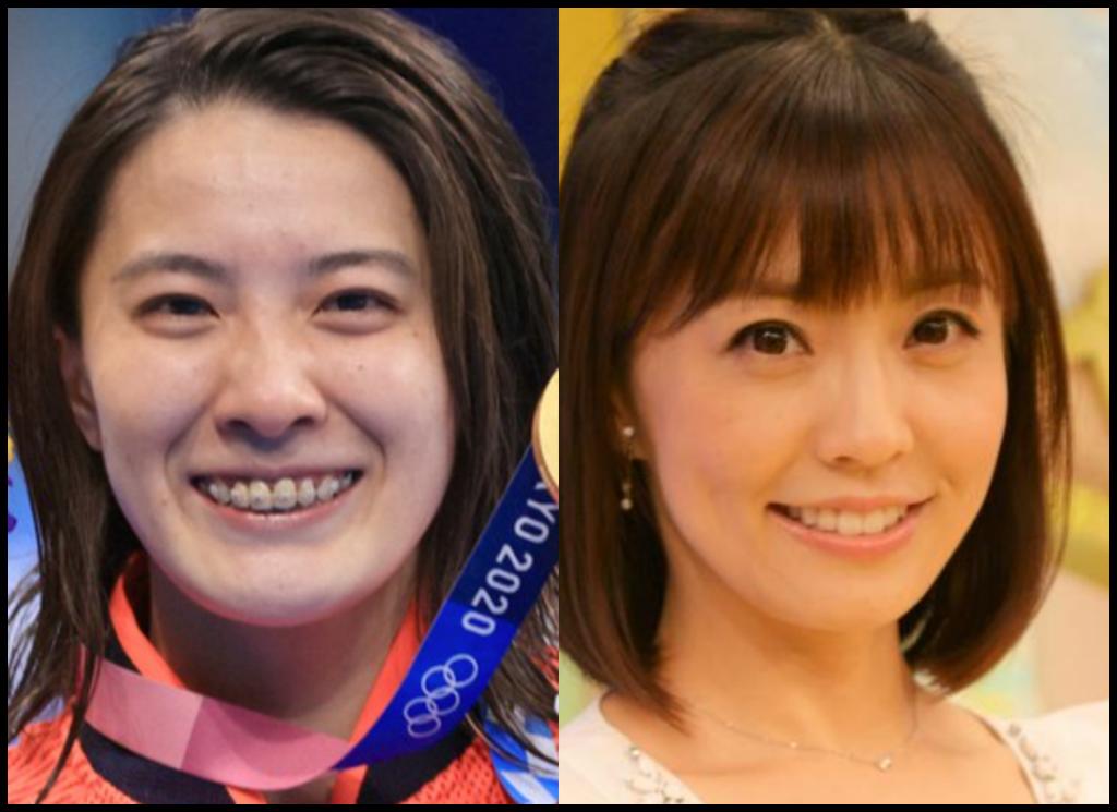 大橋悠依選手と小林麻耶さんの画像