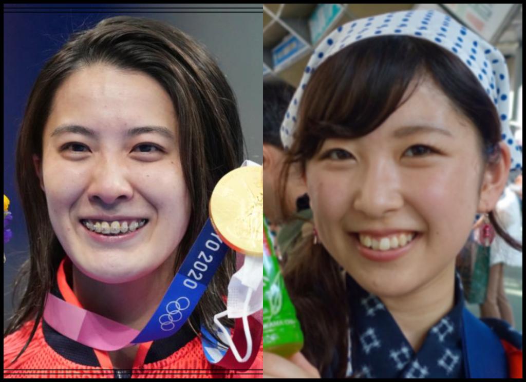 大橋悠依選手と平川沙英さんの画像