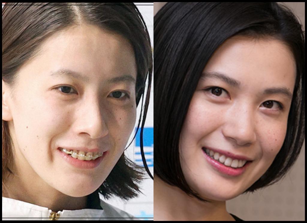 大橋悠依選手と村川絵梨さんの画像