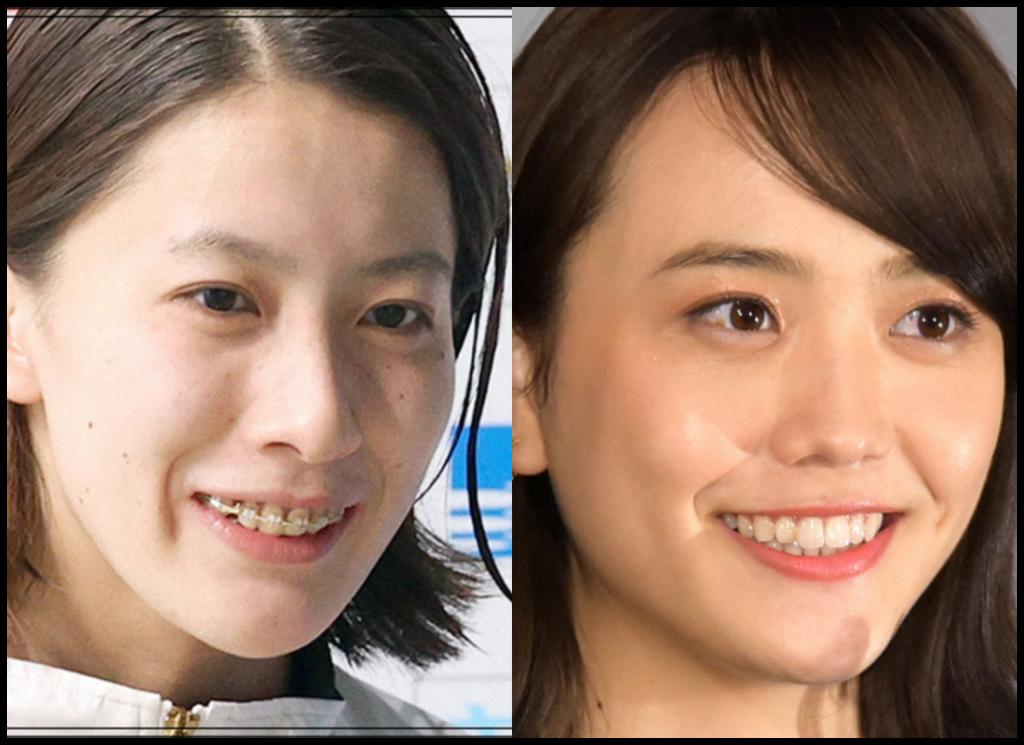 大橋悠依選手と松井愛莉さんの画像
