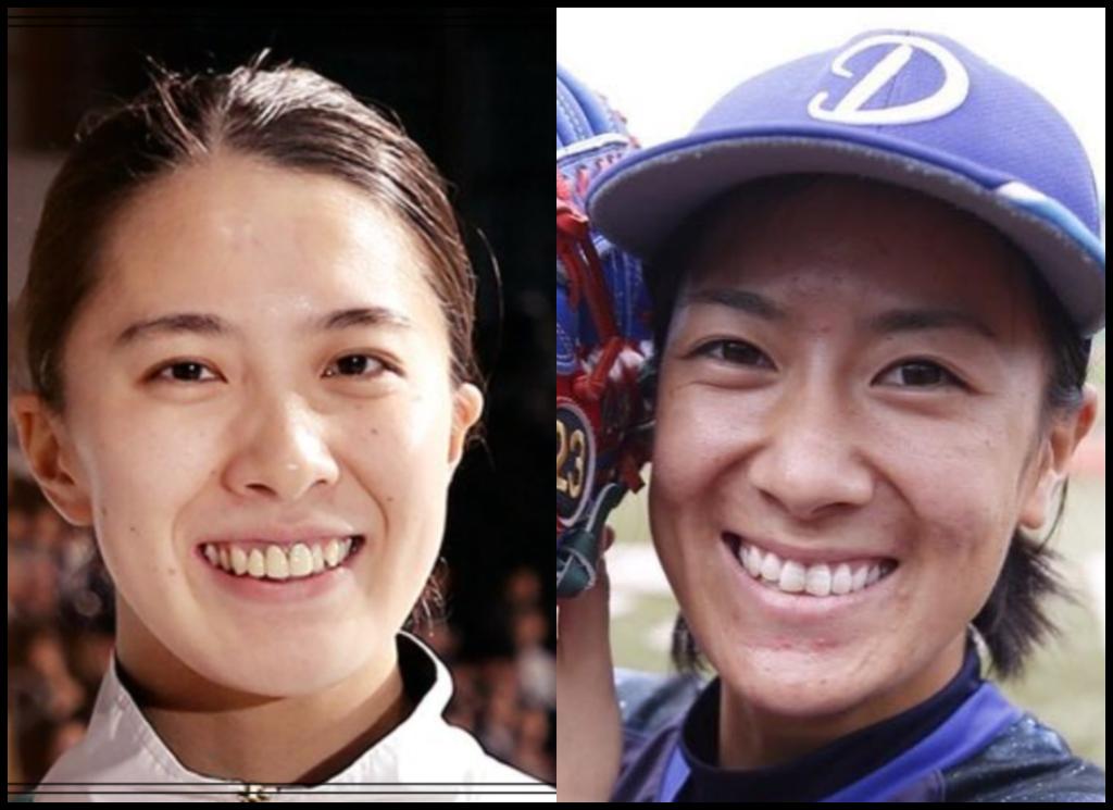 大橋悠依選手と西山小春さんの画像