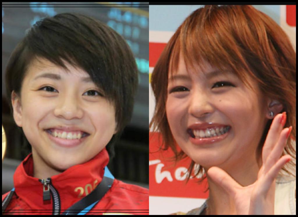 村上茉愛選手と平野綾さんの画像
