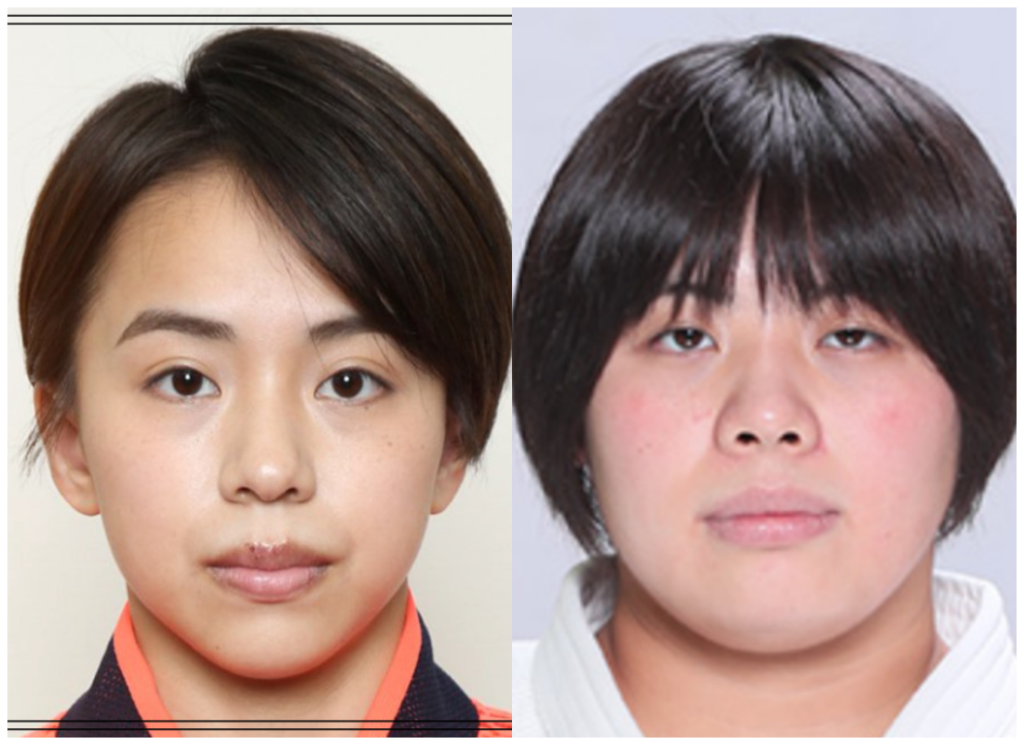 村上茉愛選手と素根輝さんの画像