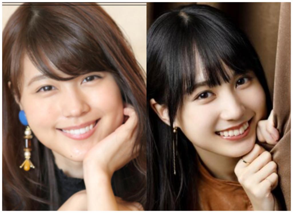 有村架純さんと賀喜遥香さんの画像