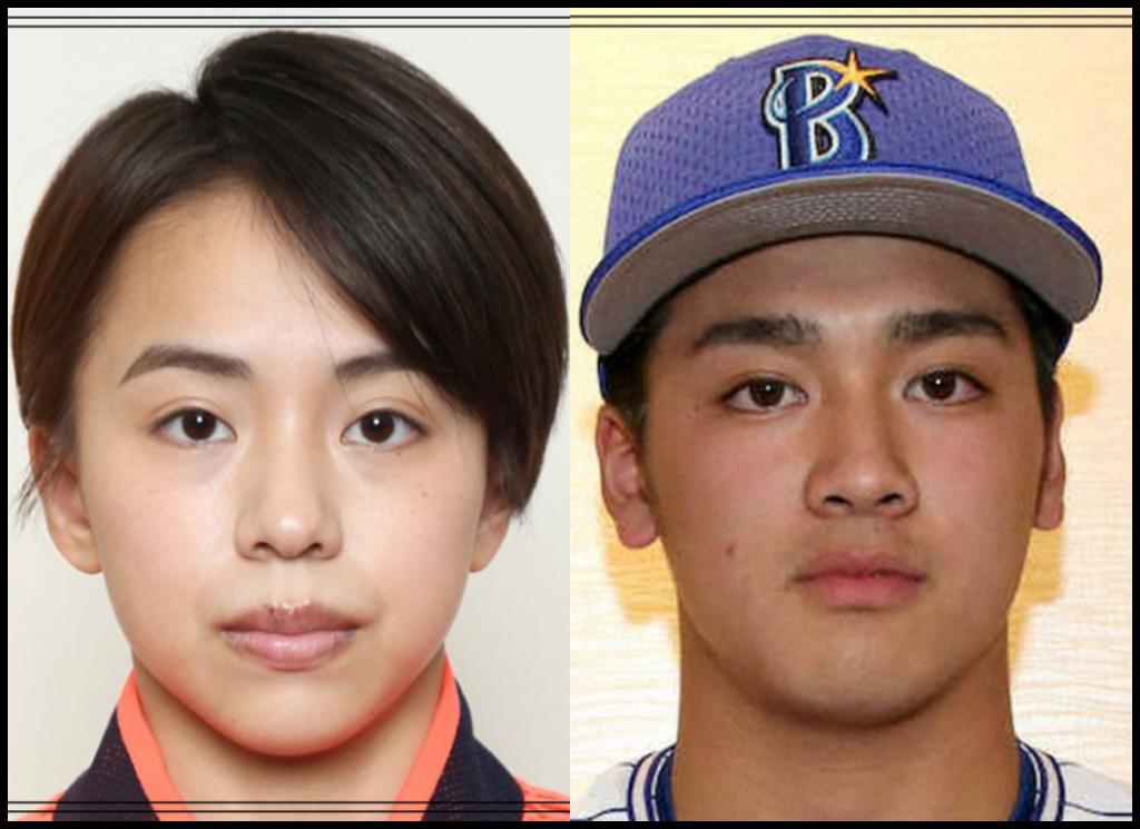 村上茉愛選手と森敬斗さんの画像