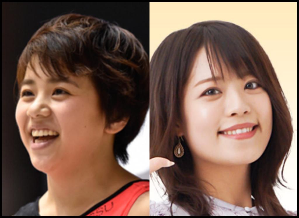 村上茉愛選手と森谷佳奈さんの画像