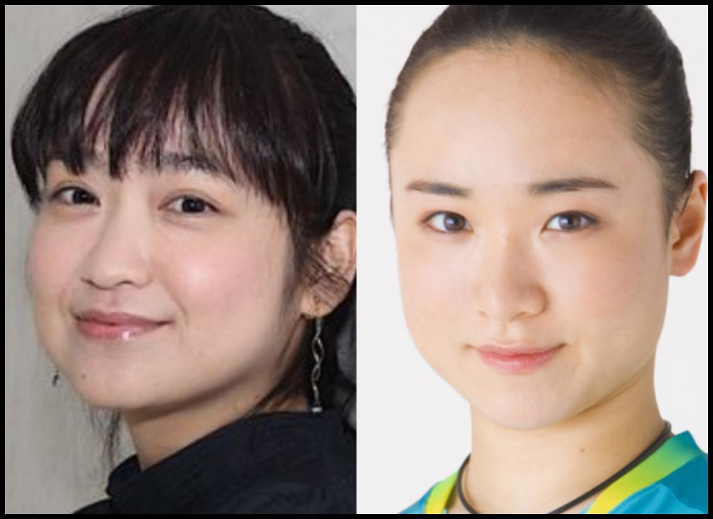 伊藤美誠選手と池脇千鶴さんの画像