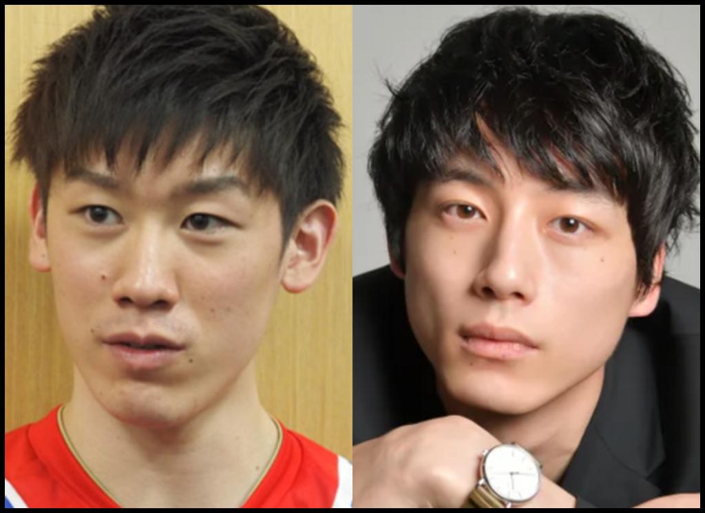 石川祐希選手と坂口健太郎さんの画像