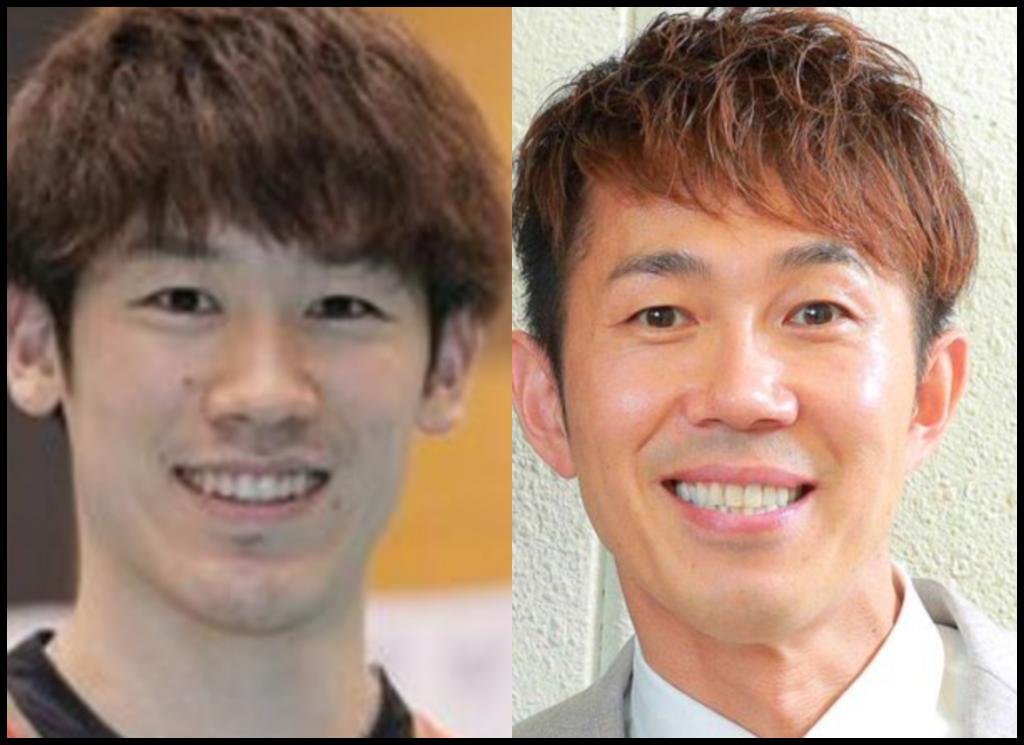 石川祐希選手とトータルテンボス大村さんの画像