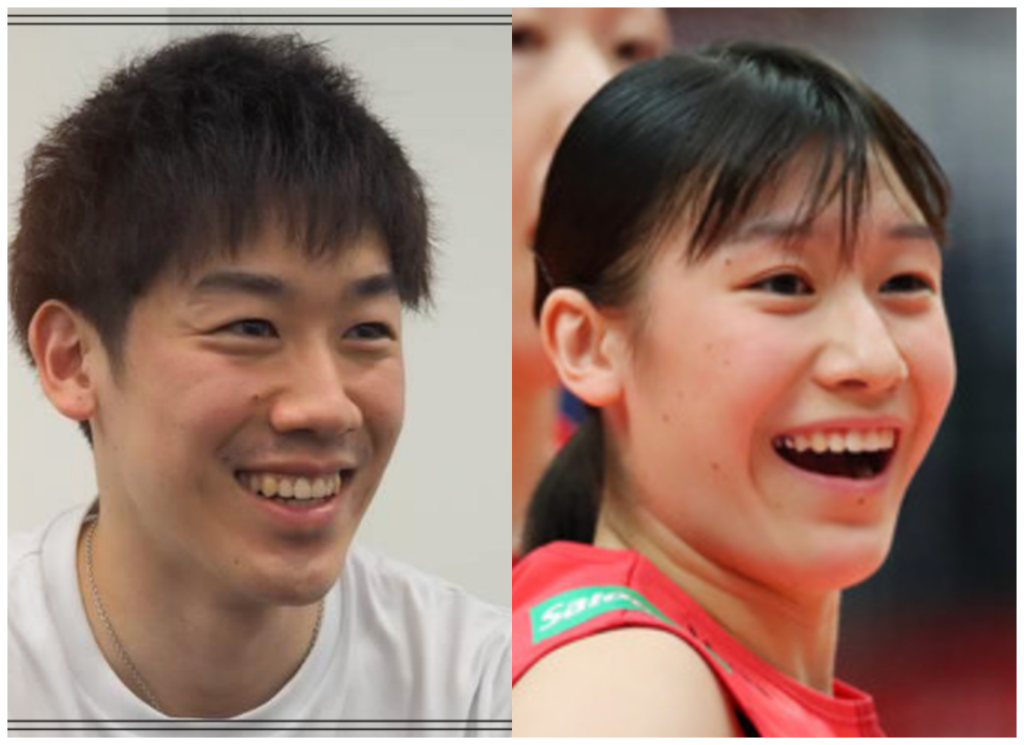 石川祐希選手と石川真佑さんの画像