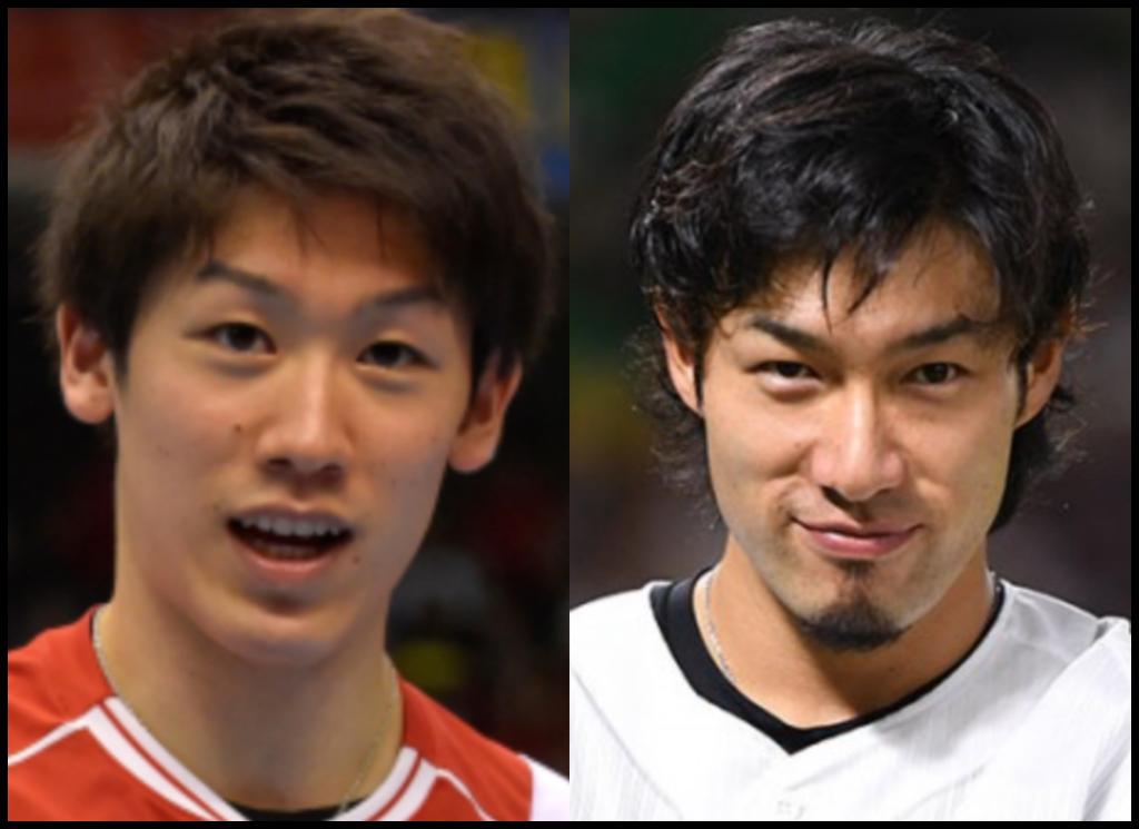 石川祐希選手と柳田悠岐さんの画像