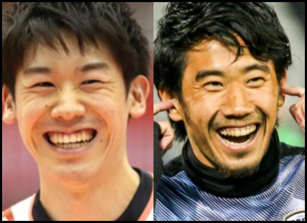 石川祐希選手と香川真司さんの画像
