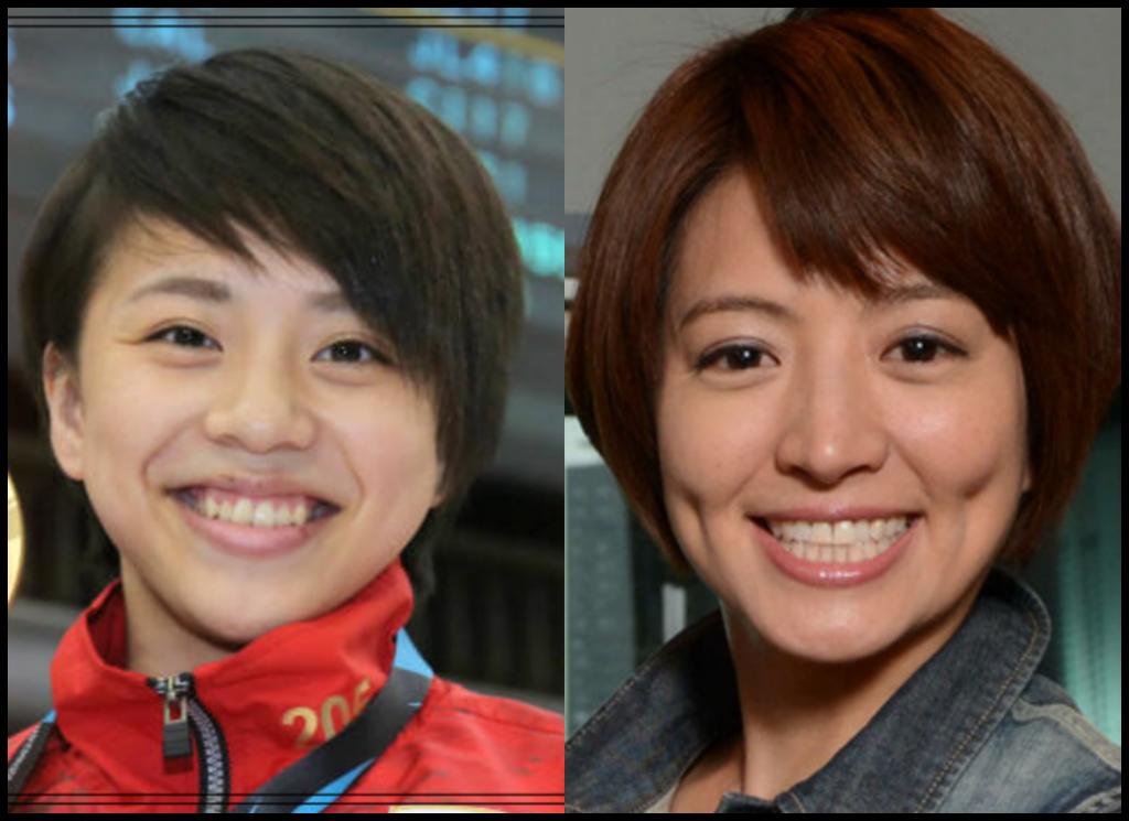 村上茉愛選手と赤江珠緒さんの画像