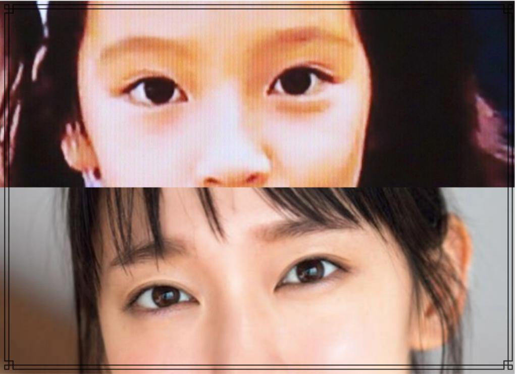 吉岡里帆さんの幼少期の画像