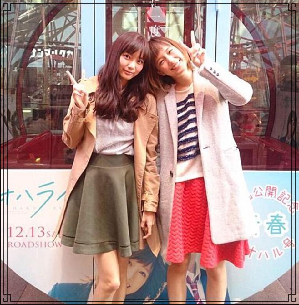 本田翼さんと新川優愛さんの画像
