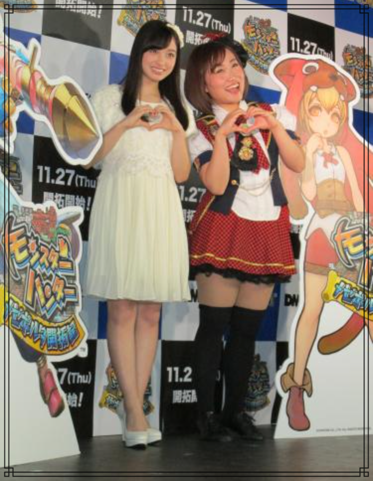 橋本環奈さんとキンタローさんの画像