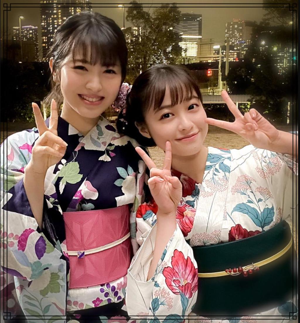 橋本環奈さんと浜辺美波さんの画像
