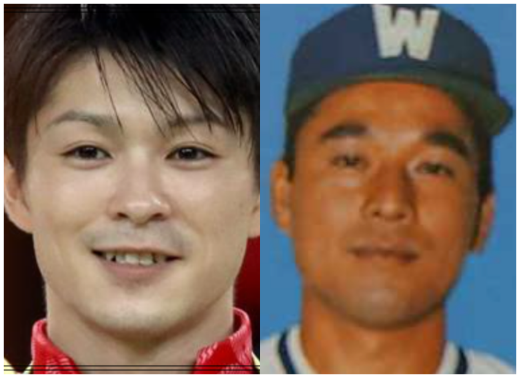内村航平さんと岩下正明さんの画像明さんの画像