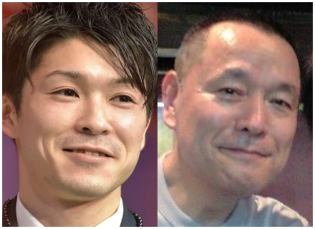 内村航平さんと岩下正明さんの画像