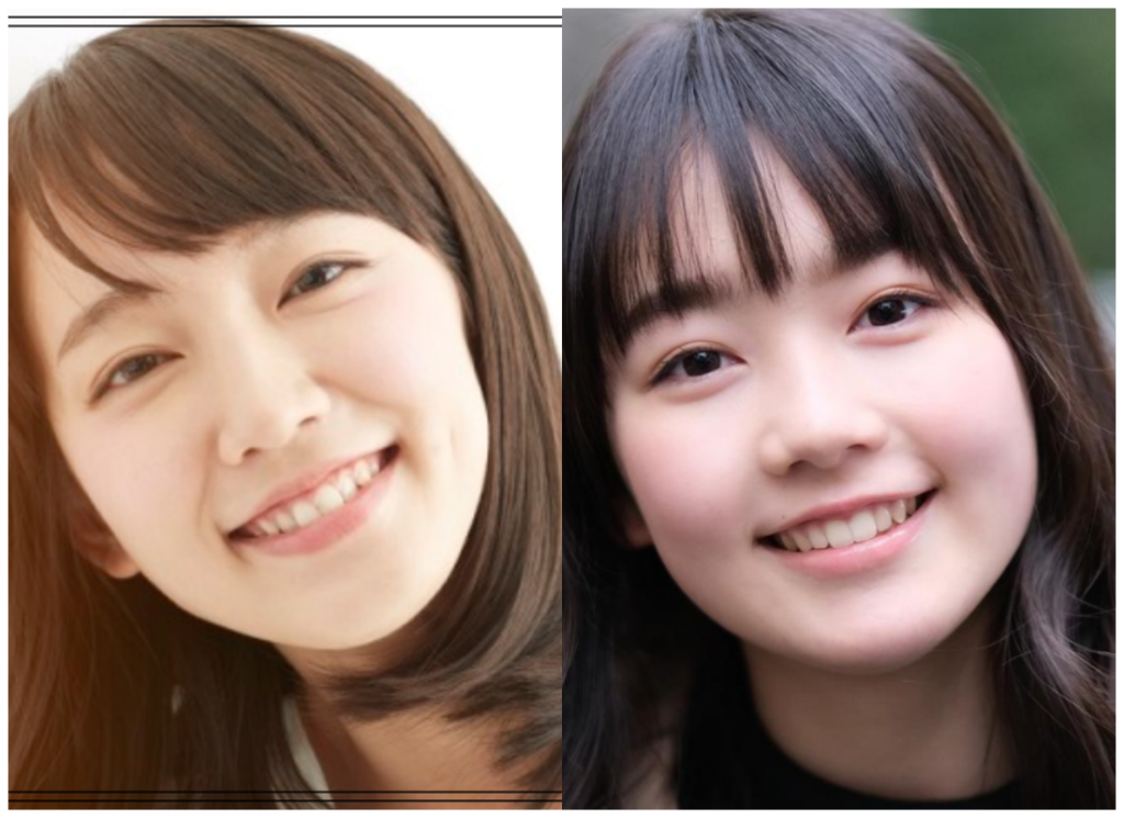 吉岡里帆さんと米倉れいあさんの画像