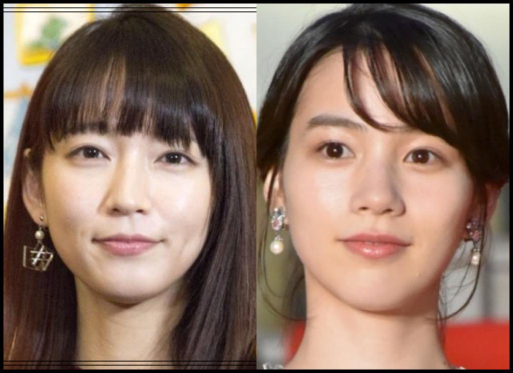 吉岡里帆さんと能年玲奈さんの画像