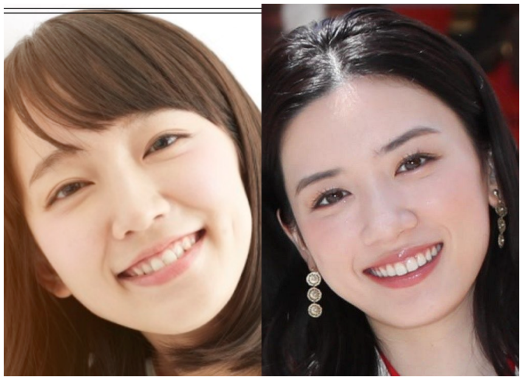 吉岡里帆さんと永野芽郁さんの画像