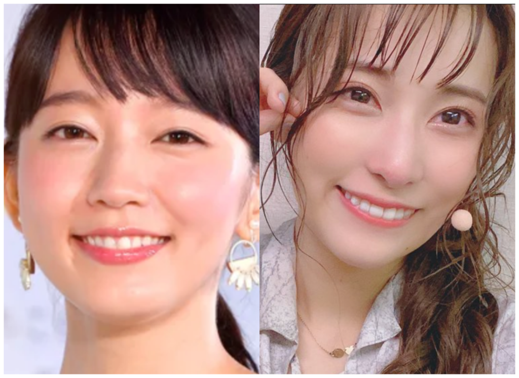 吉岡里帆さんと伊波杏樹さんの画像