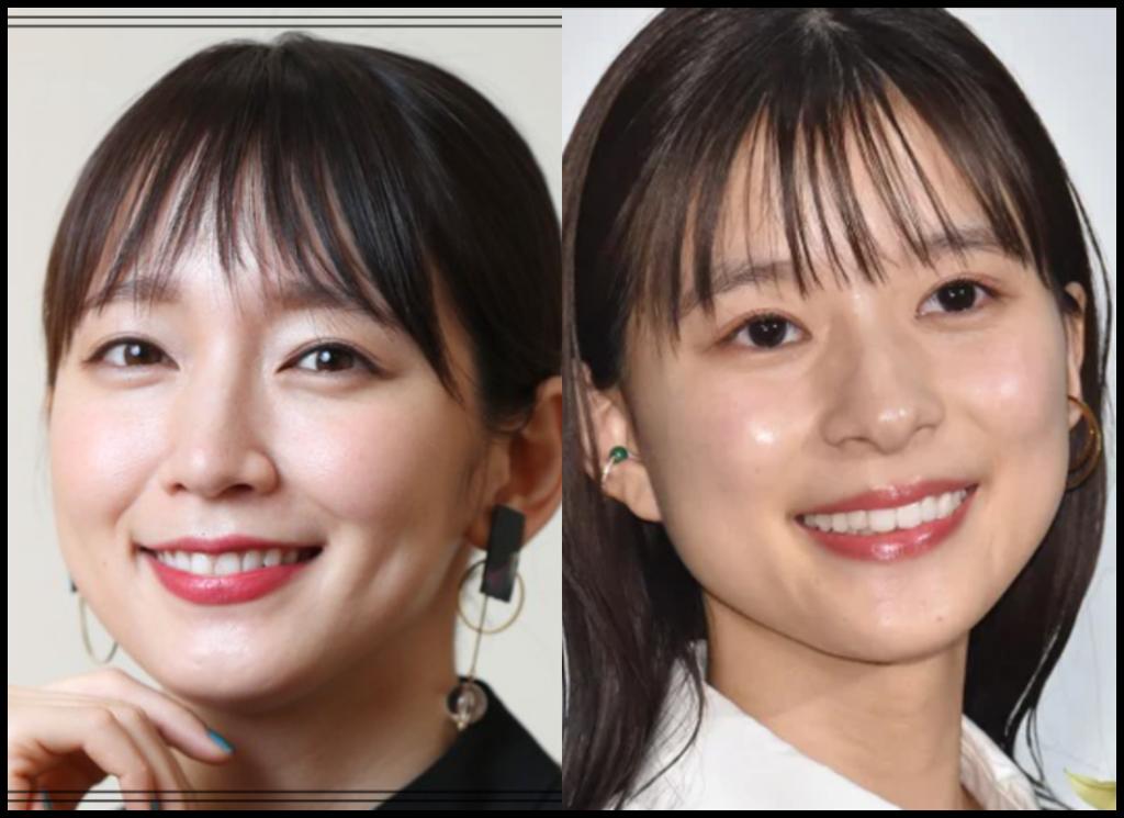吉岡里帆さんと芳根京子さんの画像