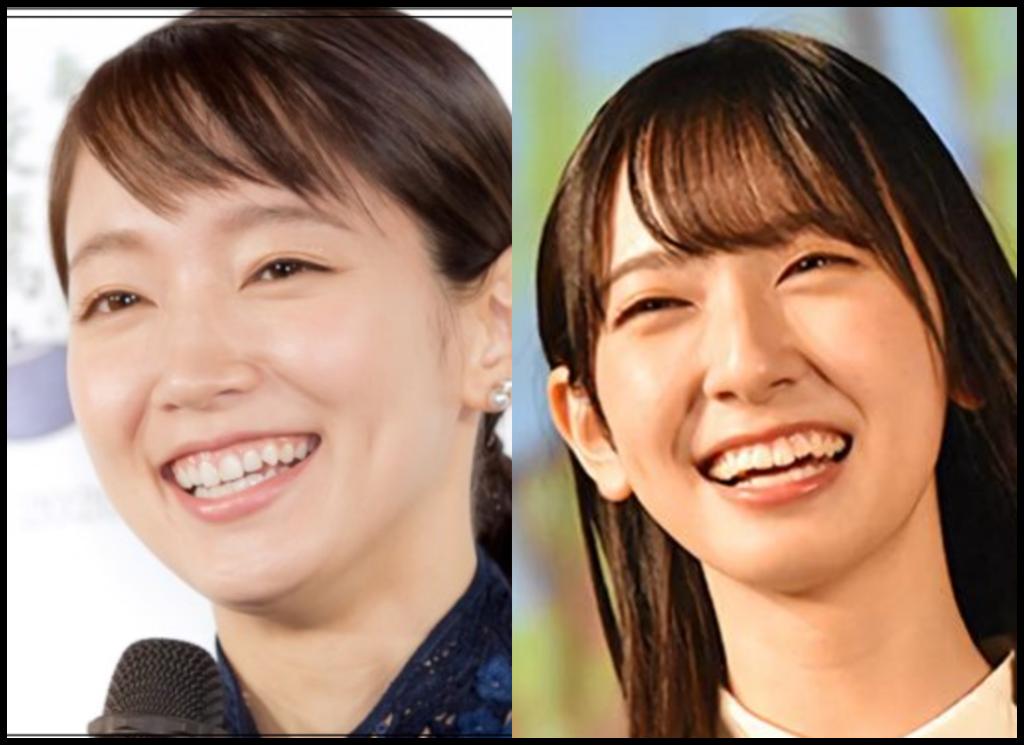吉岡里帆さんと金村美玖さんの画像