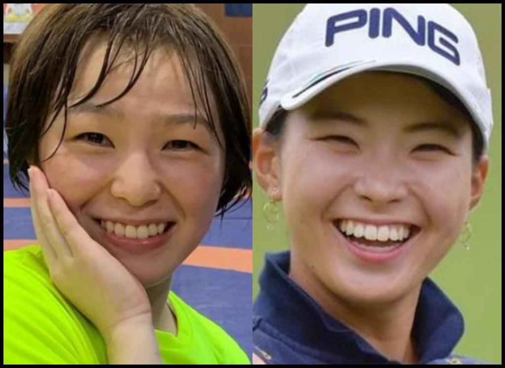 川井友香子選手と渋野日向子さんの画像