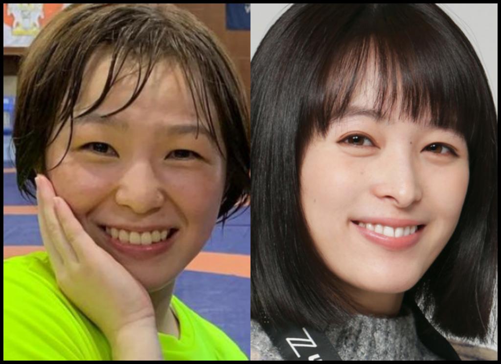 川井友香子選手と清野菜名さんの画像