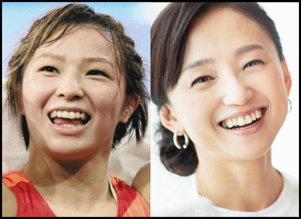 川井友香子選手と永作博美さんの画像