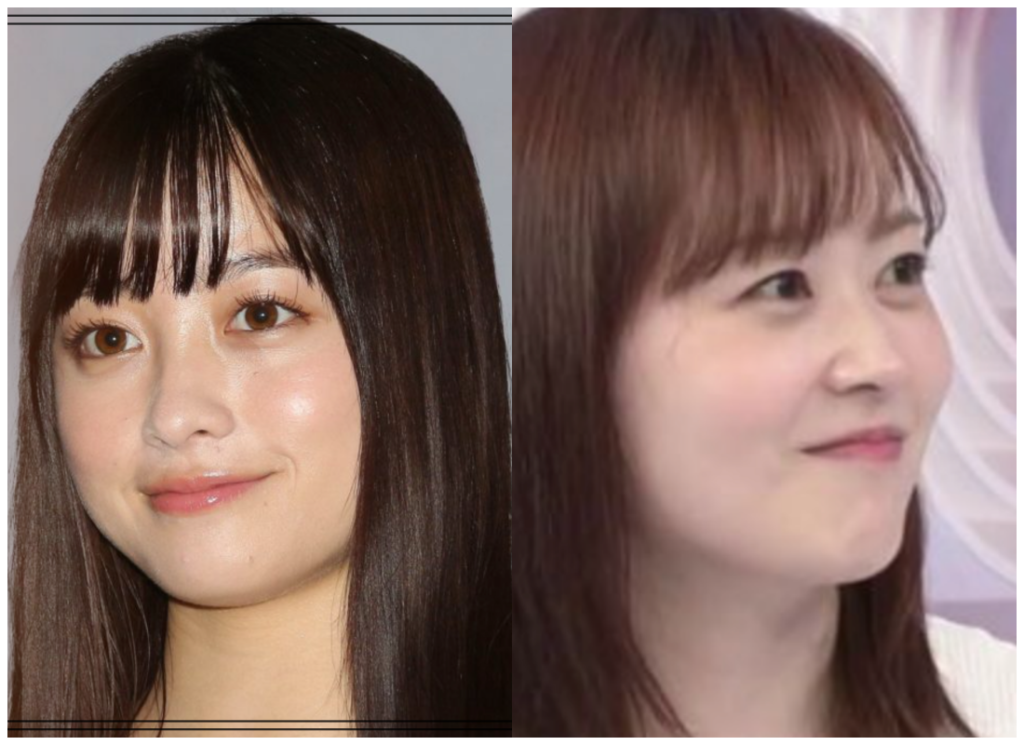 橋本環奈さんと水卜麻美さんの画像
