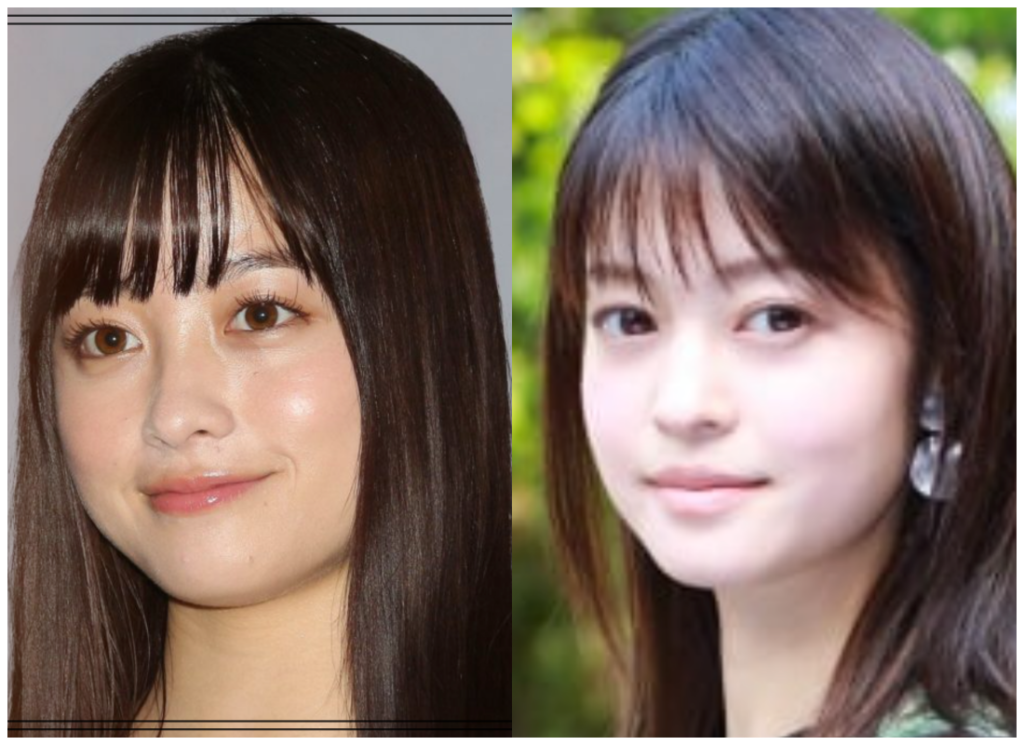 橋本環奈さんと小林涼子さんの画像